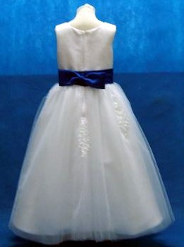 flower girl dress with color sash