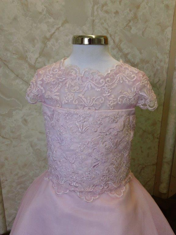 Pink Lace Flower Girl Dress