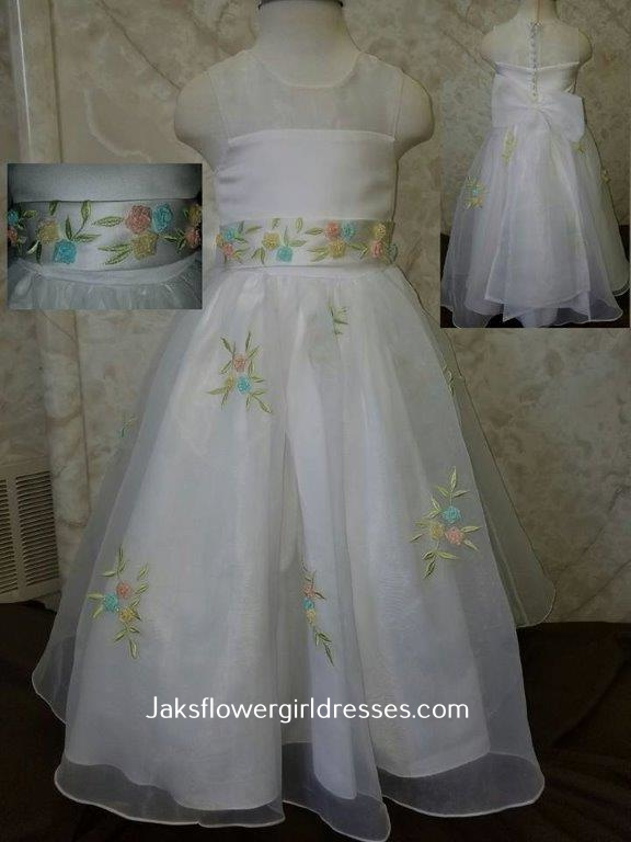 dainty flower girl dress