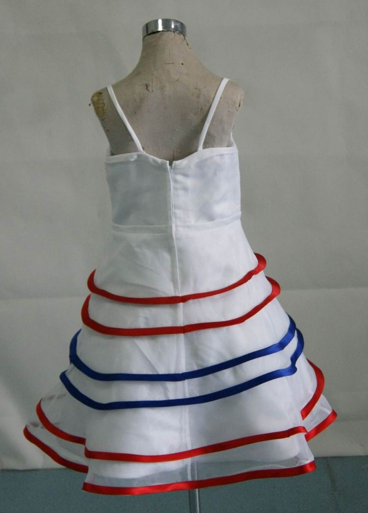 red white and blue dresses for girls