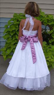 chiffon halter flower girl dress