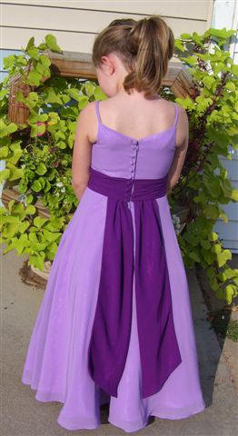 Chiffon lavender flower girls dresses