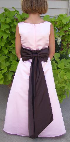 Pink and chocolate Bridesmaid dress