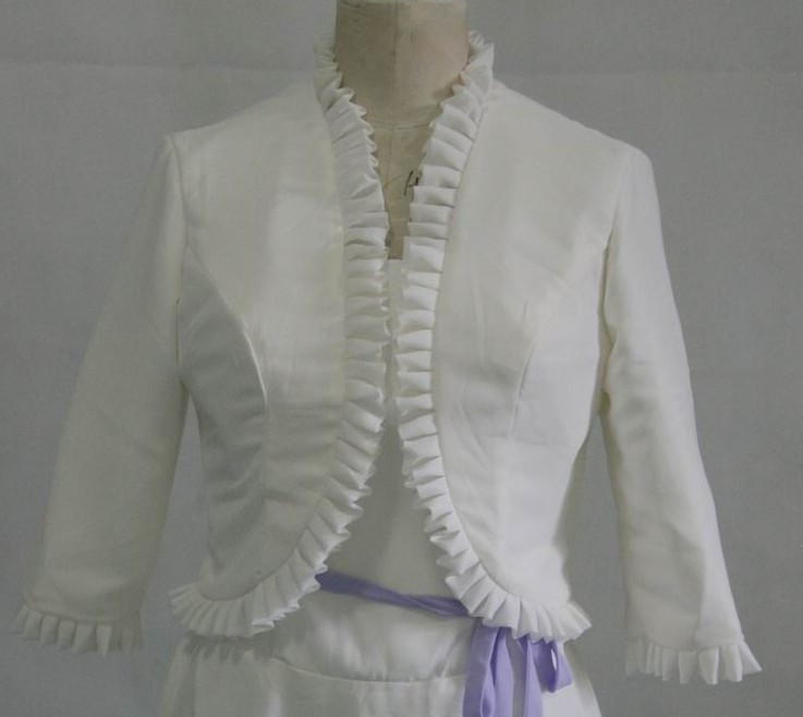 Light Ivory dress jacket with ruffles edges