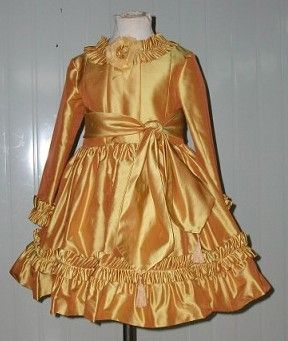girls gold dress
