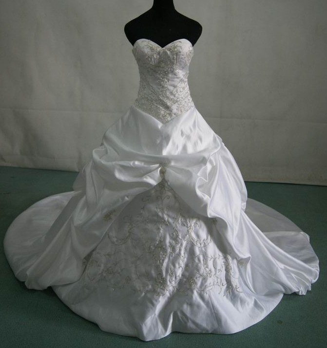 strapless miiature bridal gown