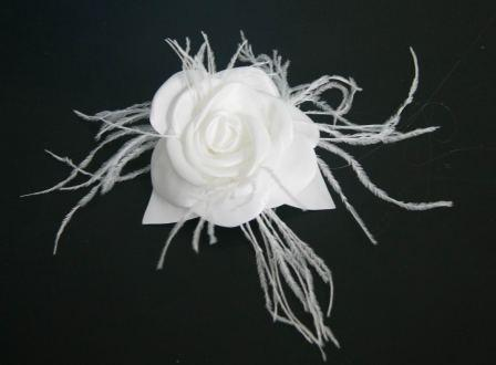 bridal feather hair comb 1