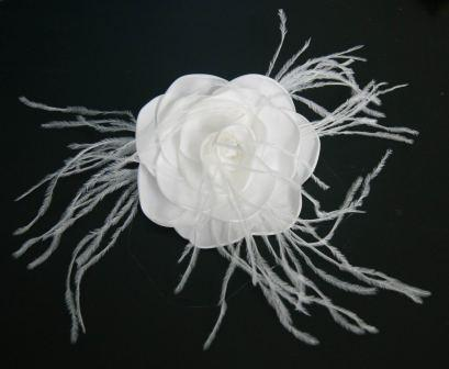 Rose Bridal Hair Flower