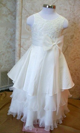 accordion pleated layer skirt miniature bride gown