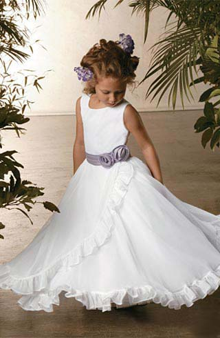ruffle flower girl dress