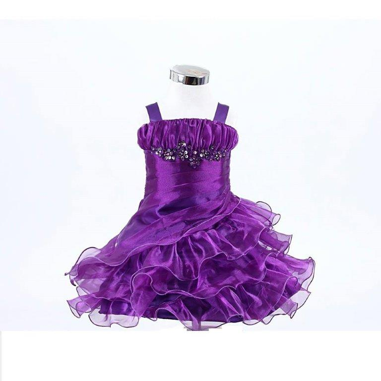 purple frilly baby dress