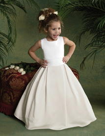 ivory pleated skirt flower girl dresses