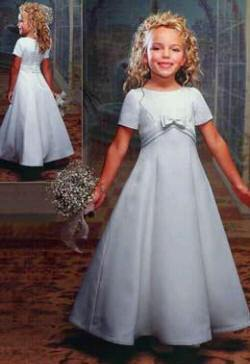 bargain short sleeve flower girl dress