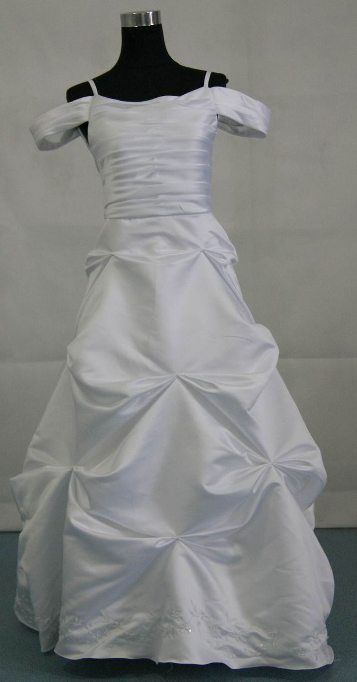Satin Bridal Party Dress with Pleated Bodice