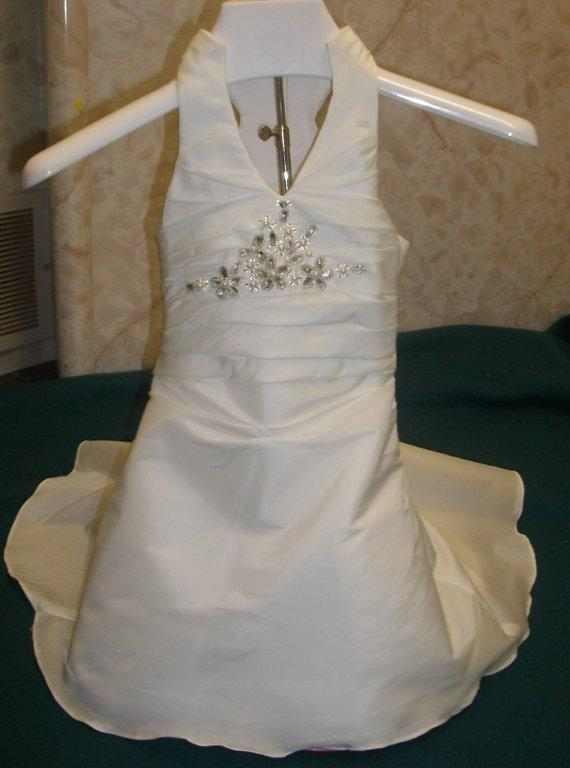 miniature version of wedding gown