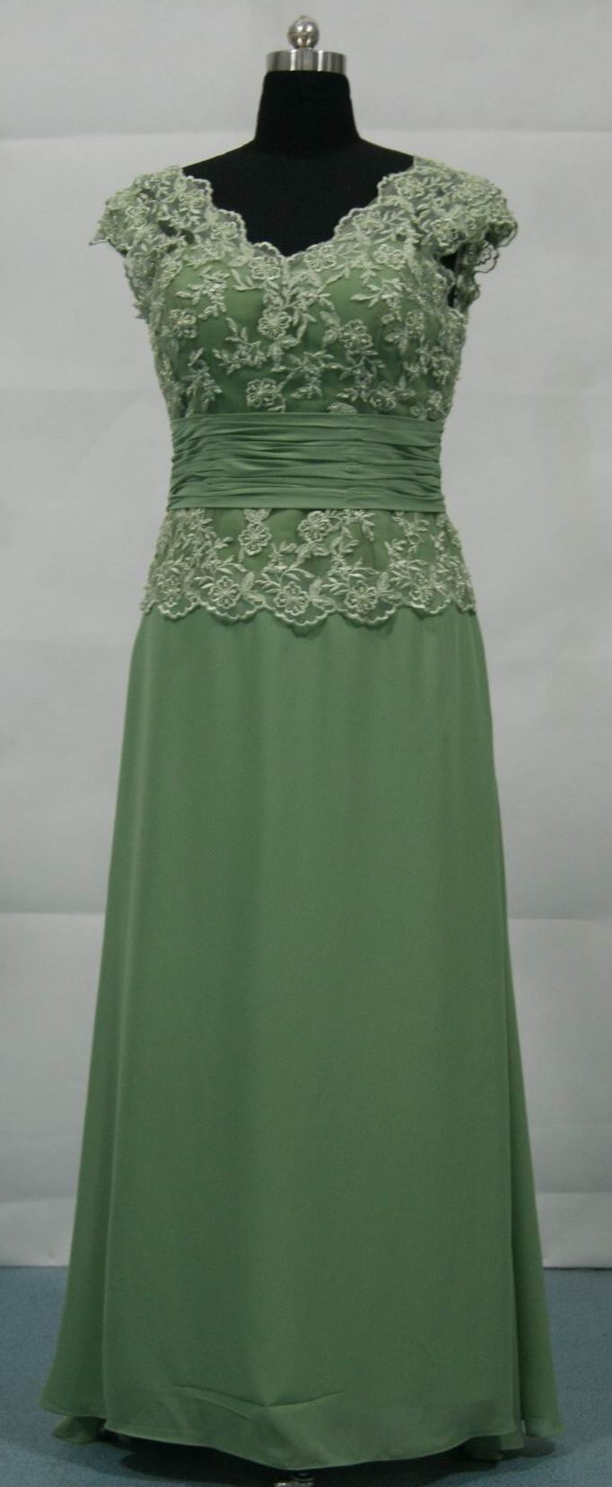 Green mother of groom chiffon dresses