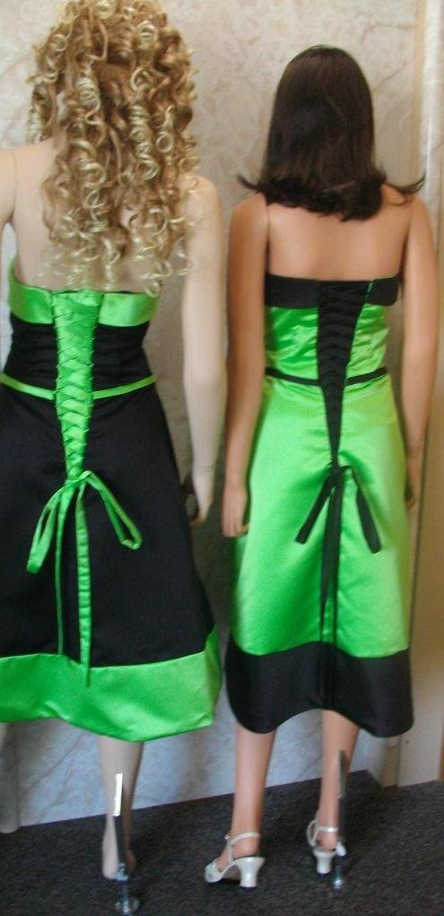lime green and black dress