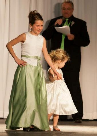 lime green junior bridesmaid dresses