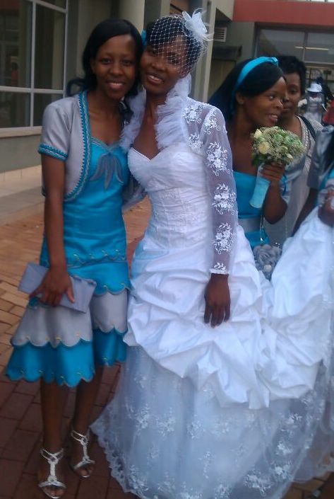 happy bride from south africa