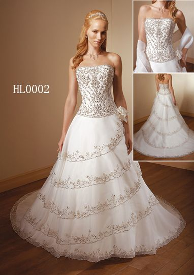 Multi Tiered Wedding Gown