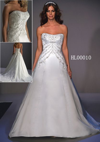 basque illusion wedding gown