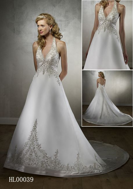 halter bridal gown