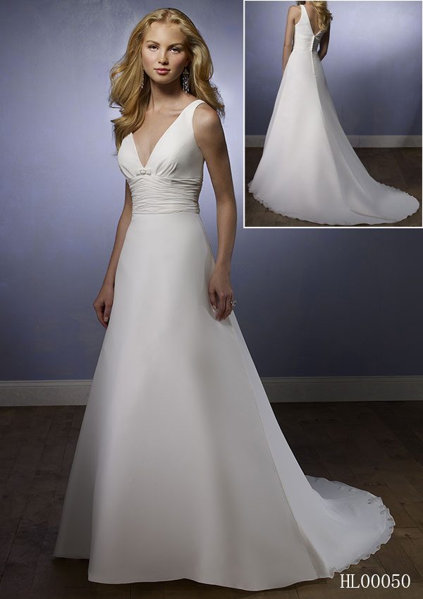 short, long wedding dress