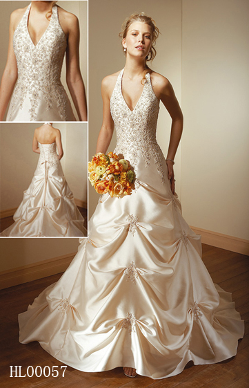 halter bridal gowns