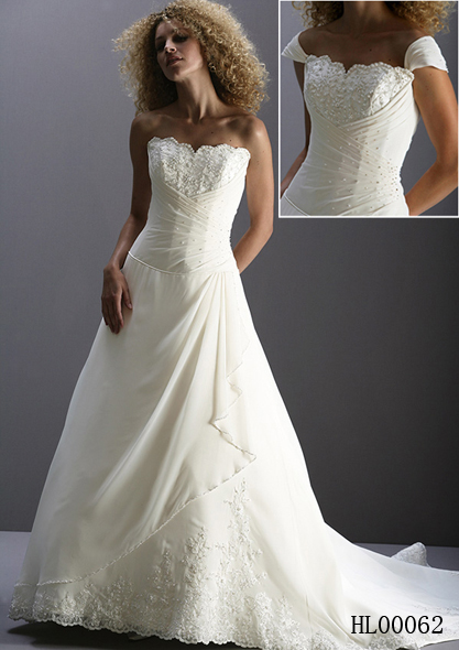 inexpensive bridal gown