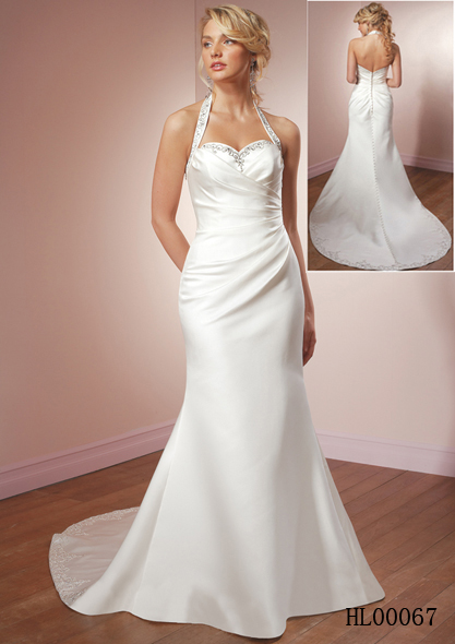 halter mermaid wedding dress