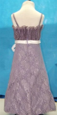 Victorian Lilac lace dress with White sash
