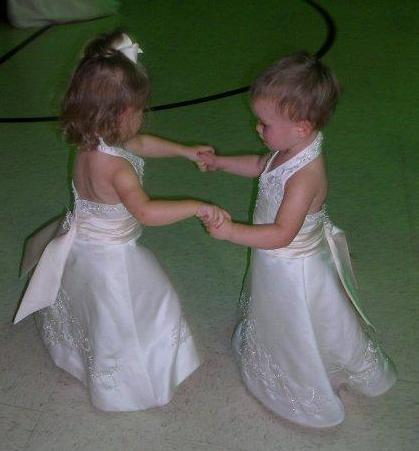 12 month size dancing flower girls