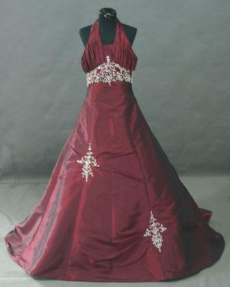 Burgundy pageant dress