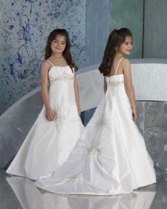 Flower Girl Dress with sweep train