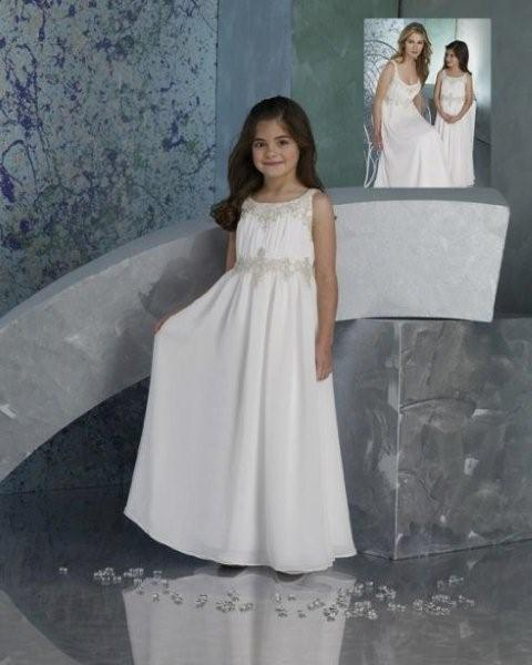 beaded chiffon flower girl dress