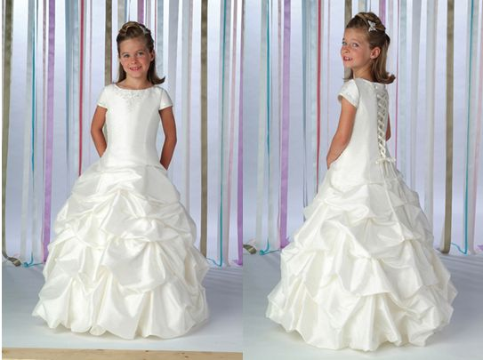 Wedding Dresses For Childrens In : Childrens party dresses ball gown gathered skirt