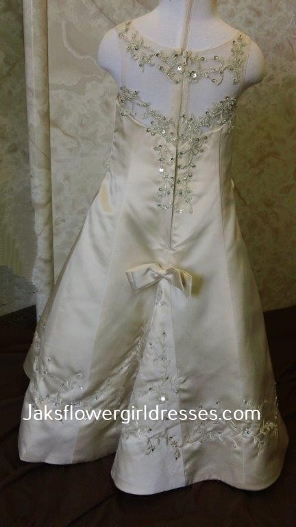 long elegant flower girl dress