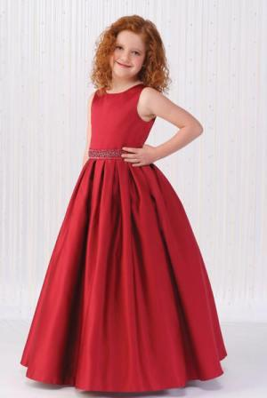 red flower girl dress