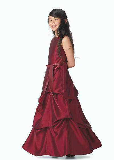 long red junior bridesmaid dresses