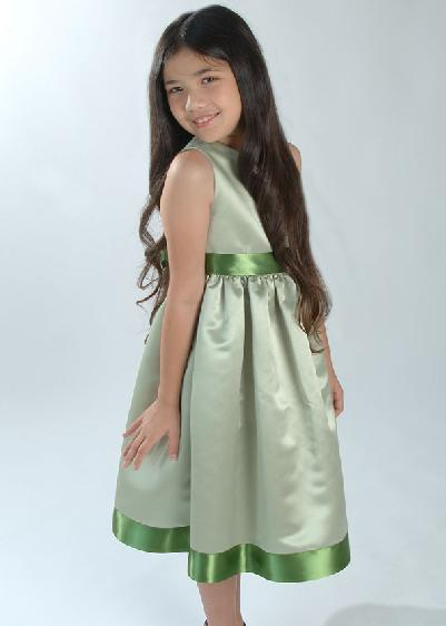 short green junior bridesmaid dress