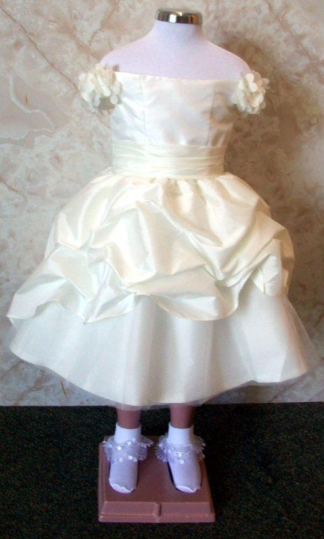 ivory infant flower girl dress