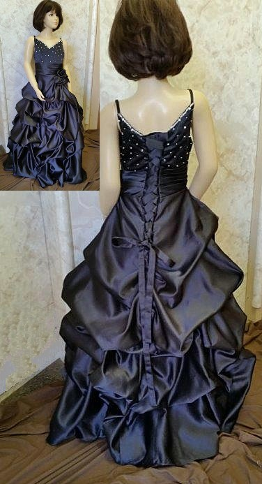 black pickup pageant dress