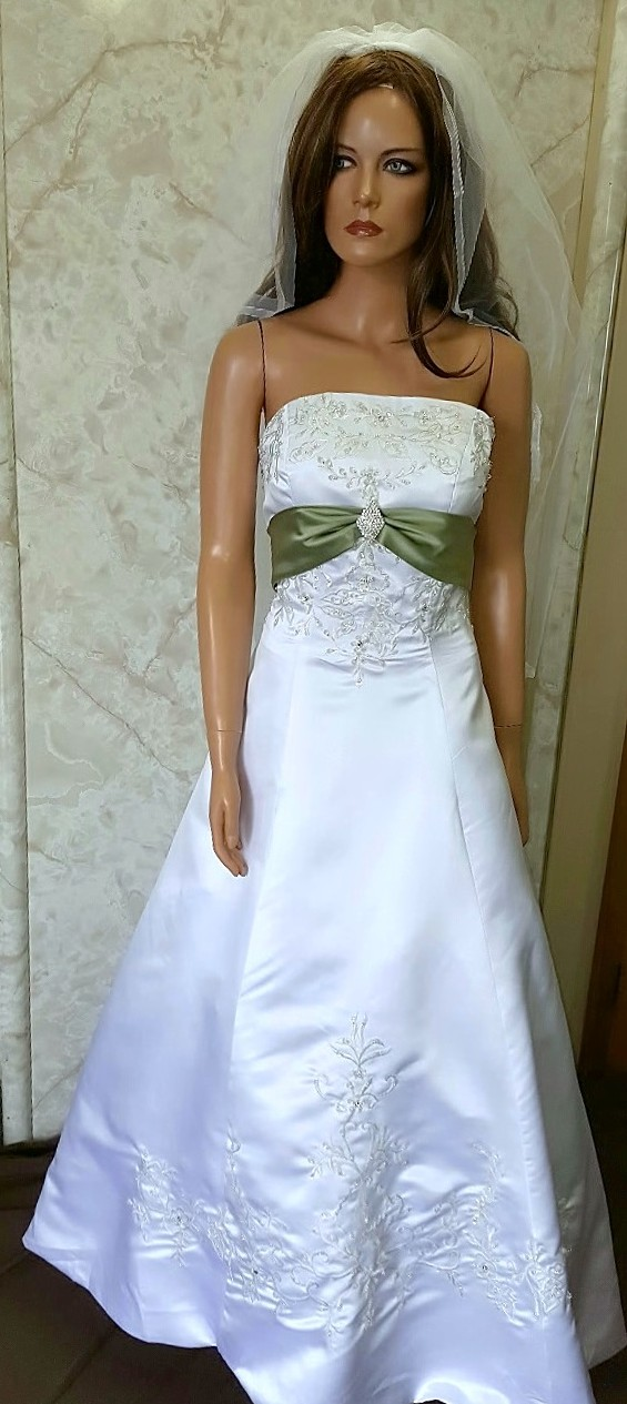 ivory and sage wedding dresses