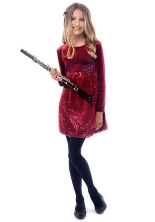 Look cool in the burgundy mini dress for Christmas