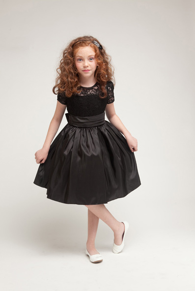 girls black lace holiday dresses