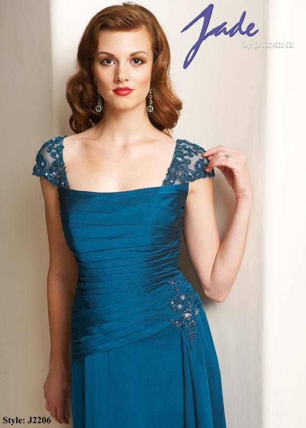 teal Mother of the bride dresses