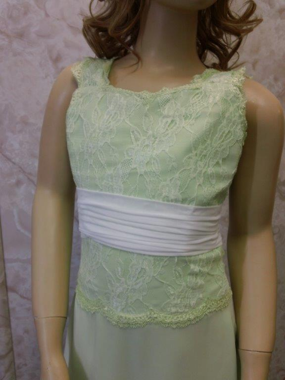 Lace bodice and strap flower girl dress
