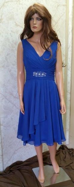 royal blue chiffon mothers dress