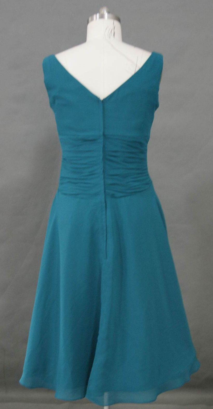 teal mother of the bride tea length dress