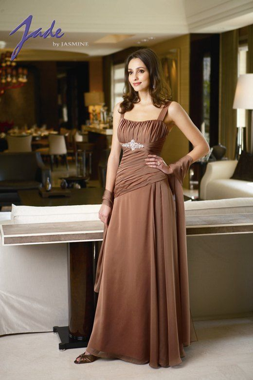 mother of the groom brown dress